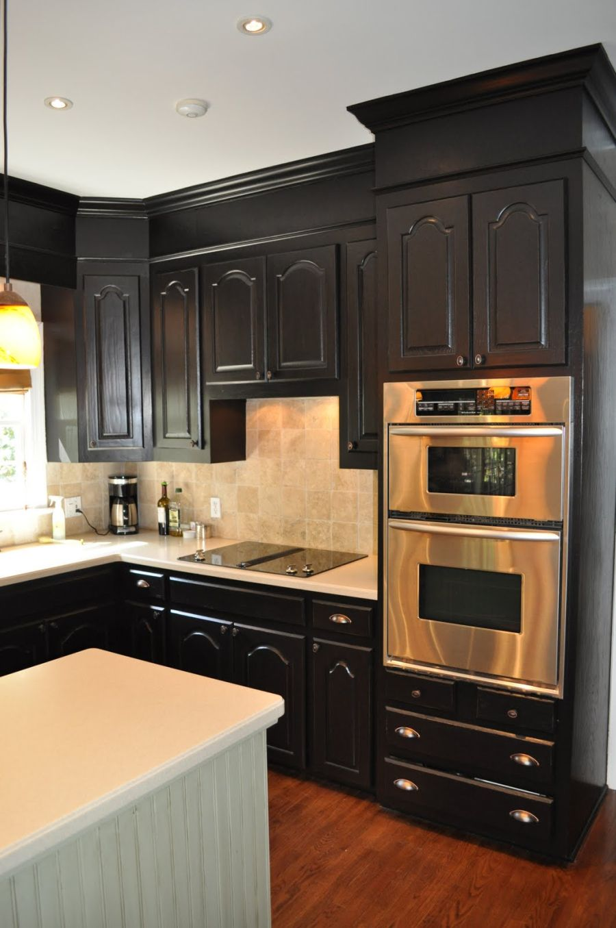 Best Kitchen Gallery: One Color Fits Most Black Kitchen Cabi S of Kitchen With Black Cabinets on rachelxblog.com