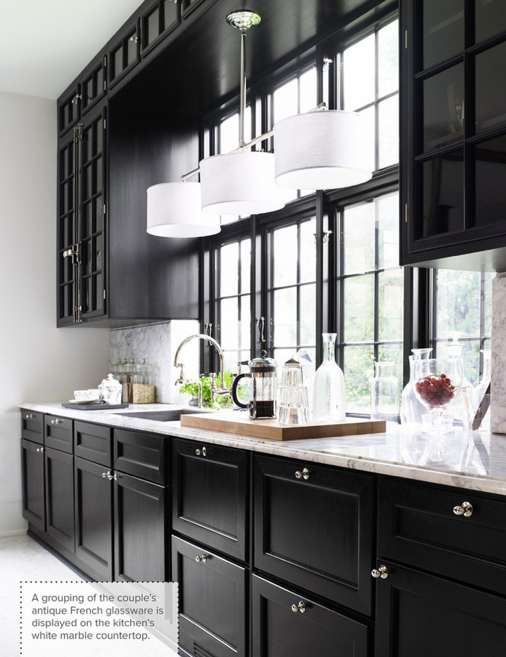 One Color Fits Most  Black Kitchen Cabinets Natural Light as Balancing Feature  Subscribe to HOMEDIT