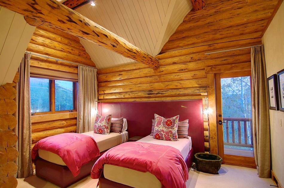 Colorado Log Cabin Teen Bedroom Home Decorating Trends