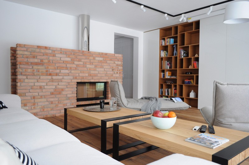 Colorful-apartment-in-Poland-living-room-fireplace