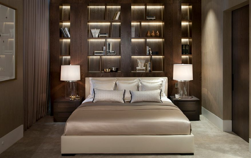 Bookcase Headboard Lights