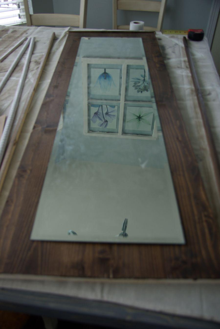 DIY Floor Mirror Frame