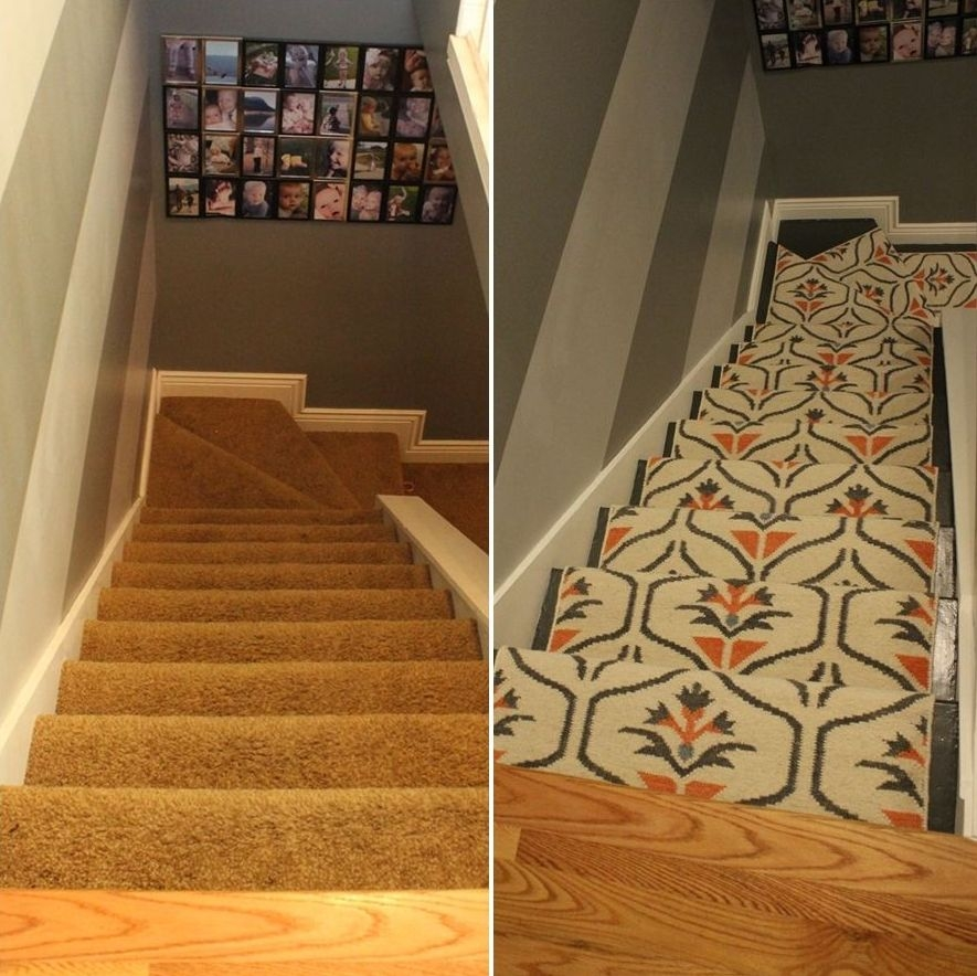 Update Your Staircase How To Remove And Install Carpet On The Stairs   Putting Carpet On Stairs   Modern   Colour   Design   Gray   Protector