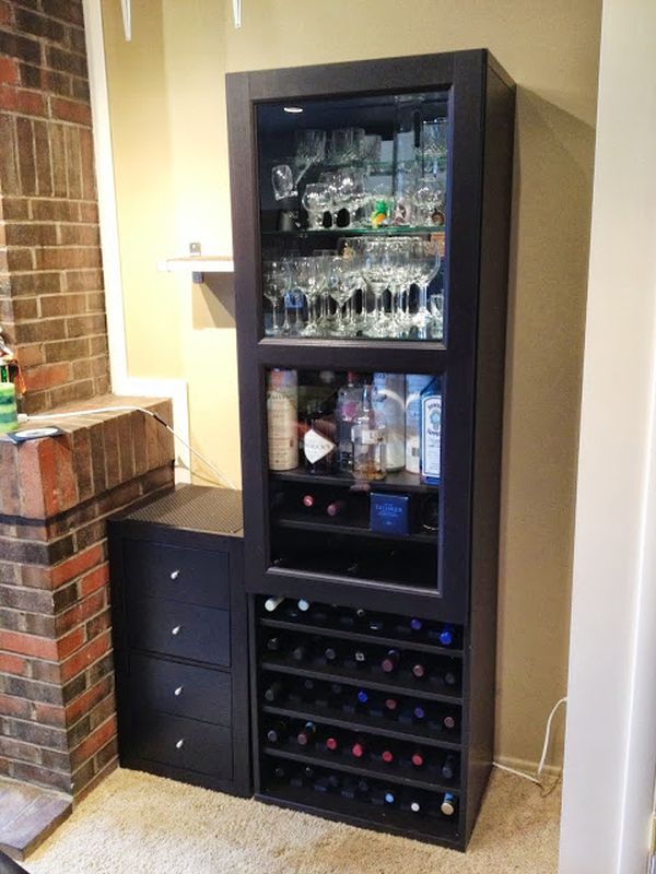 ikea items to build your own wine rack