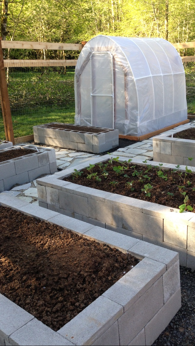 Concrete Raised Garden Beds
