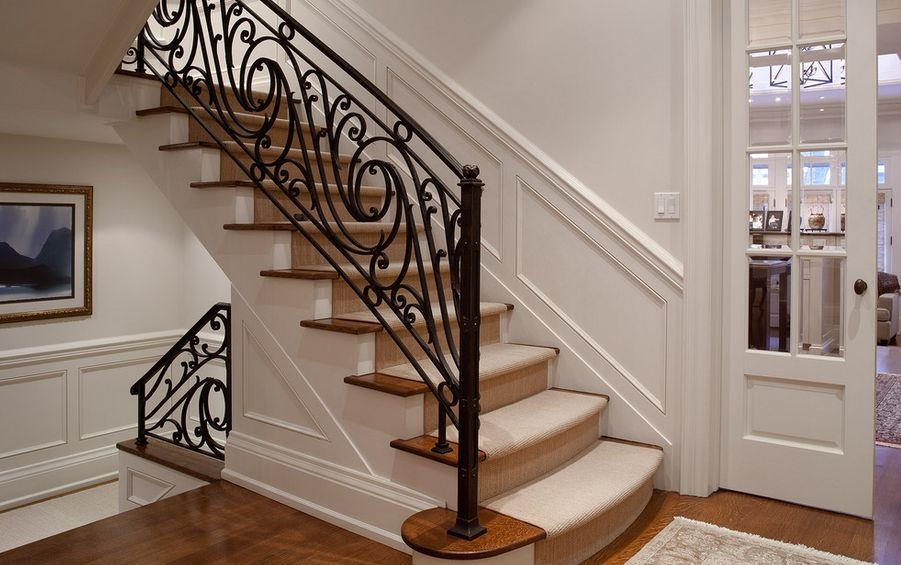 Interior Designs That Revive The Wrought Iron Railings | Wrought Iron Railing Interior | Building Iron | Stair | Gallery | Victorian | Outdoor