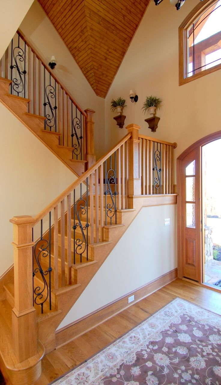 Interior Designs That Revive The Wrought Iron Railings | Iron Railings For Steps