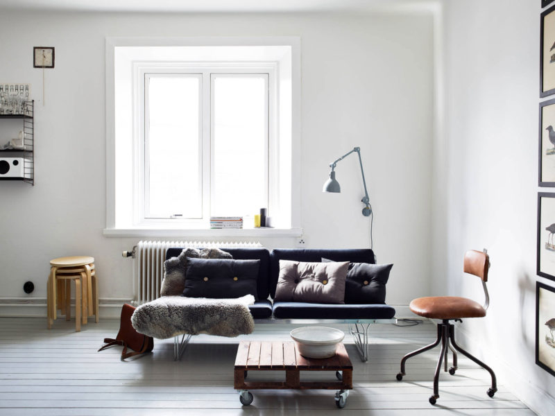 Scandinavian Design Trends Living Room with Rolling Furniture