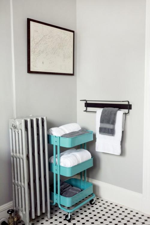 ikea rolling bathroom cart - thedancingparent