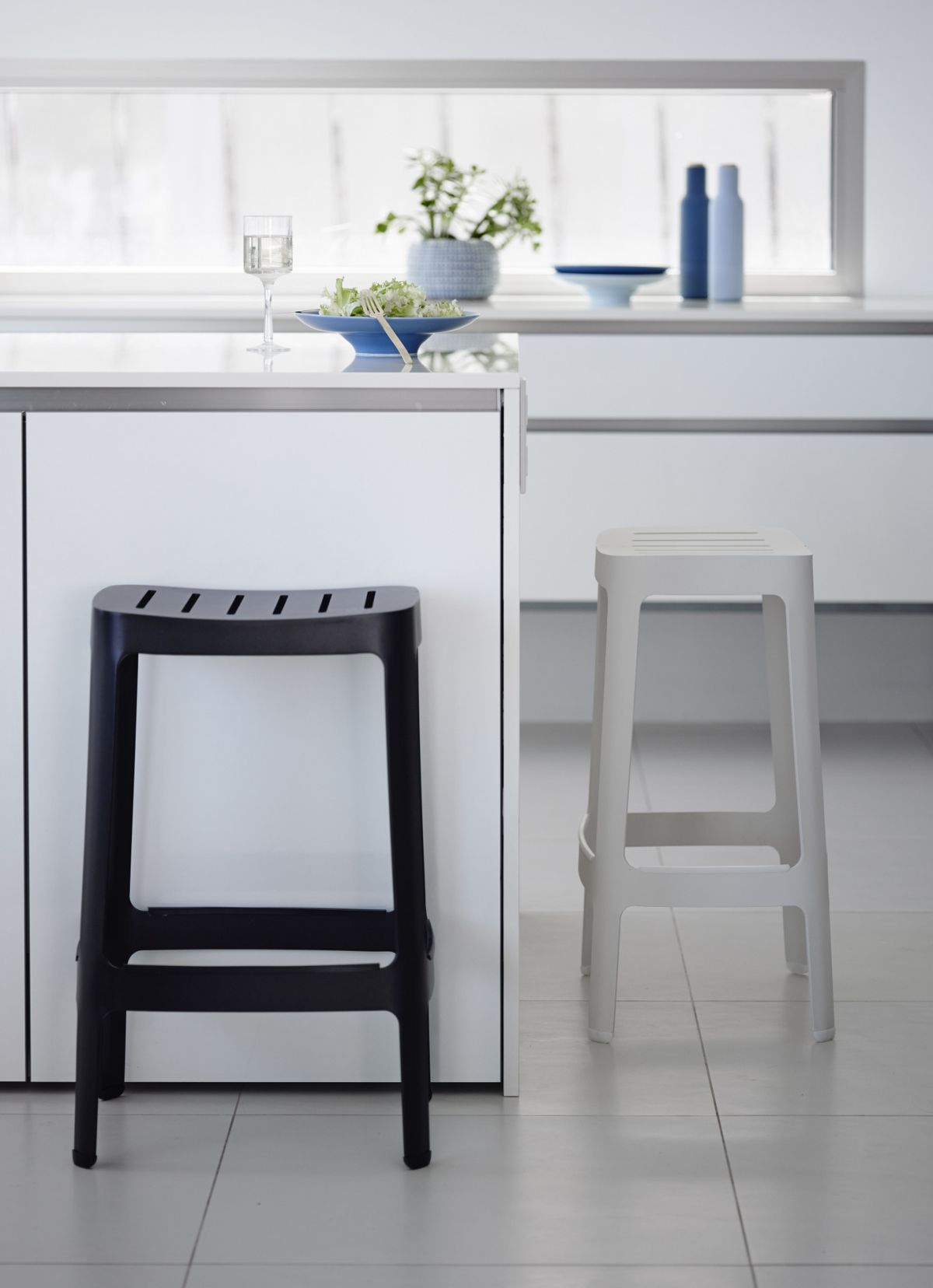 White Kitchen Bar Stools