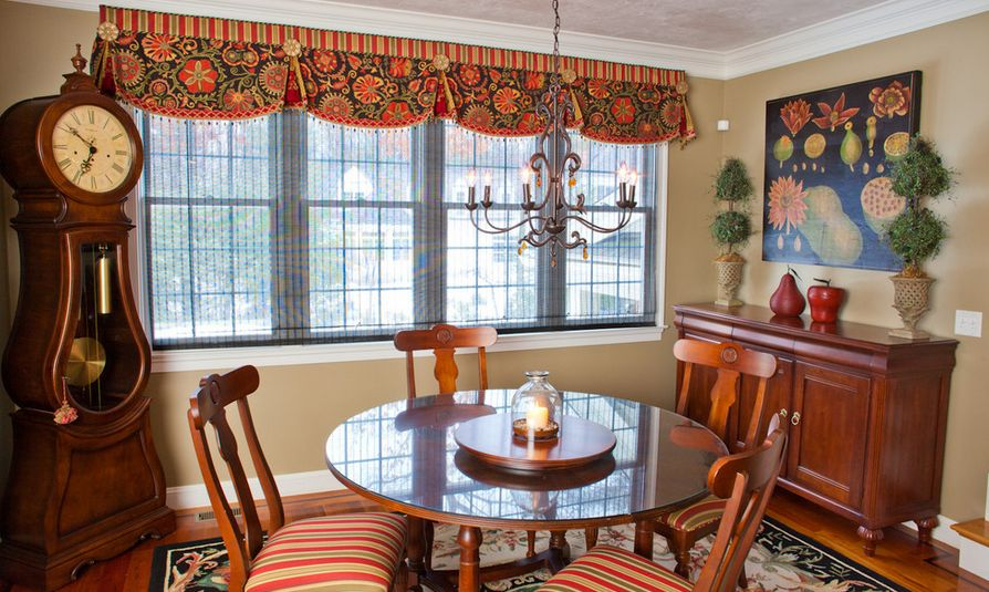 Dining room window valances