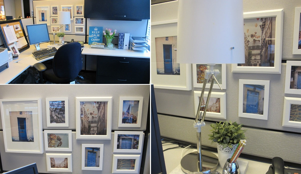 20 Cubicle Decor Ideas to Make Your Office Style Work as Hard as You Do Framed art for cubicle decor