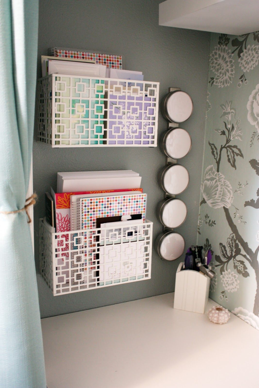 20 Cubicle Decor Ideas to Make Your Office Style Work as Hard as You Do 19  Install organizing bins to your wall