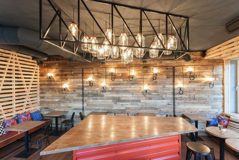 Penka coffee bar bar and light fixture match
