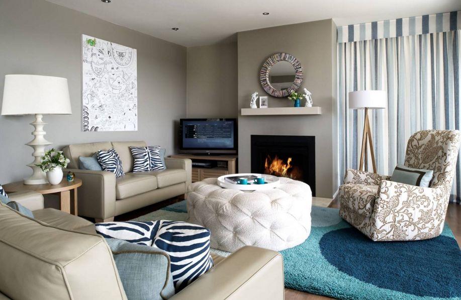 subdued drama living room