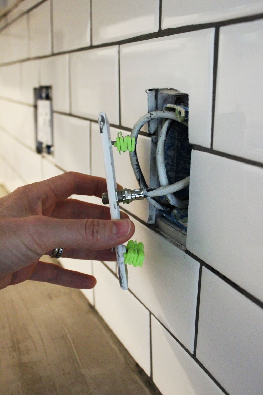 install a subway tile kitchen backsplash