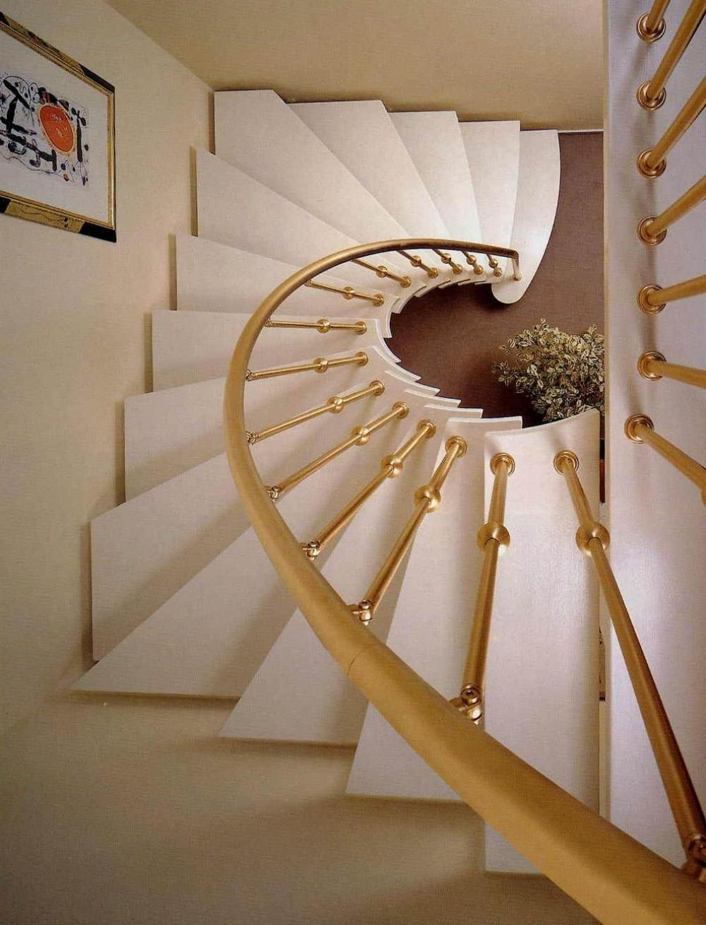 40 Breathtaking Spiral Staircases To Dream About Having In Your Home | Semi Spiral Staircase Design | Curved Staircase | Residential Library | Interior | Futuristic | Iron