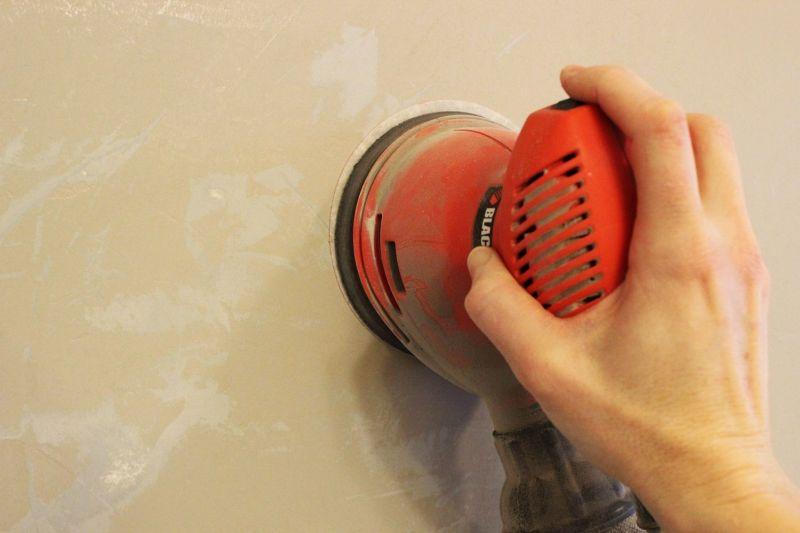 Start sanding your walls.