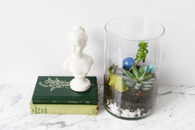 Snowy Flower Terrarium Frozen Decoration Potted Plant Accessories