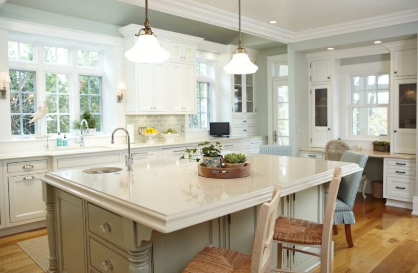 20 White Quartz Countertops   Inspire Your Kitchen Renovation Kitchen With Tradition Design