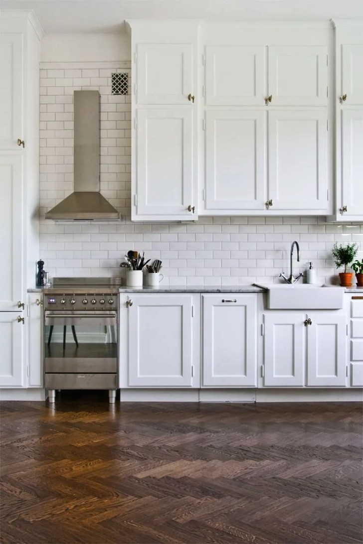 Subway Tile Gives Entire Space Lighter Brighter More Modern