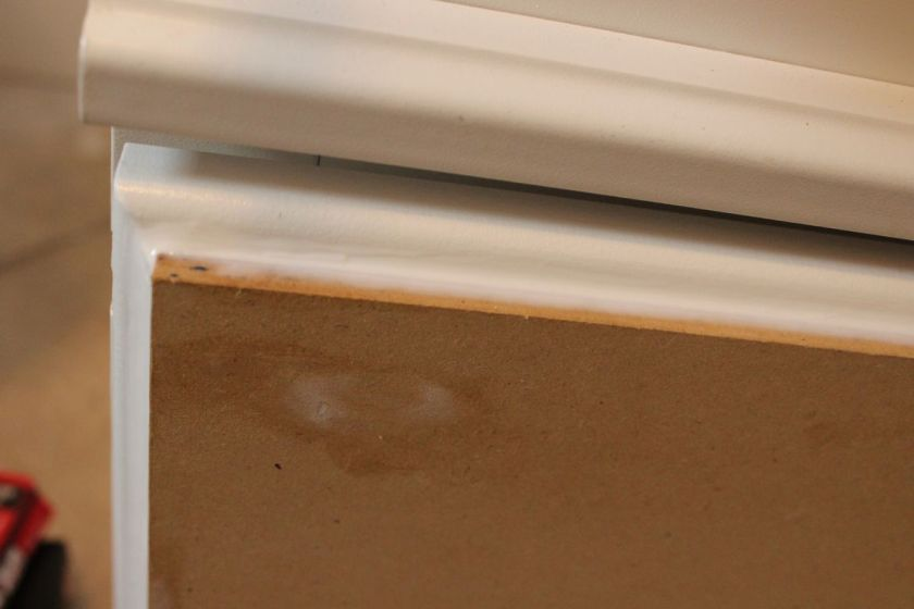 Allow caulk and spackle to dry