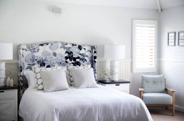 delicate bedroom with one of these 40 feminine headboards