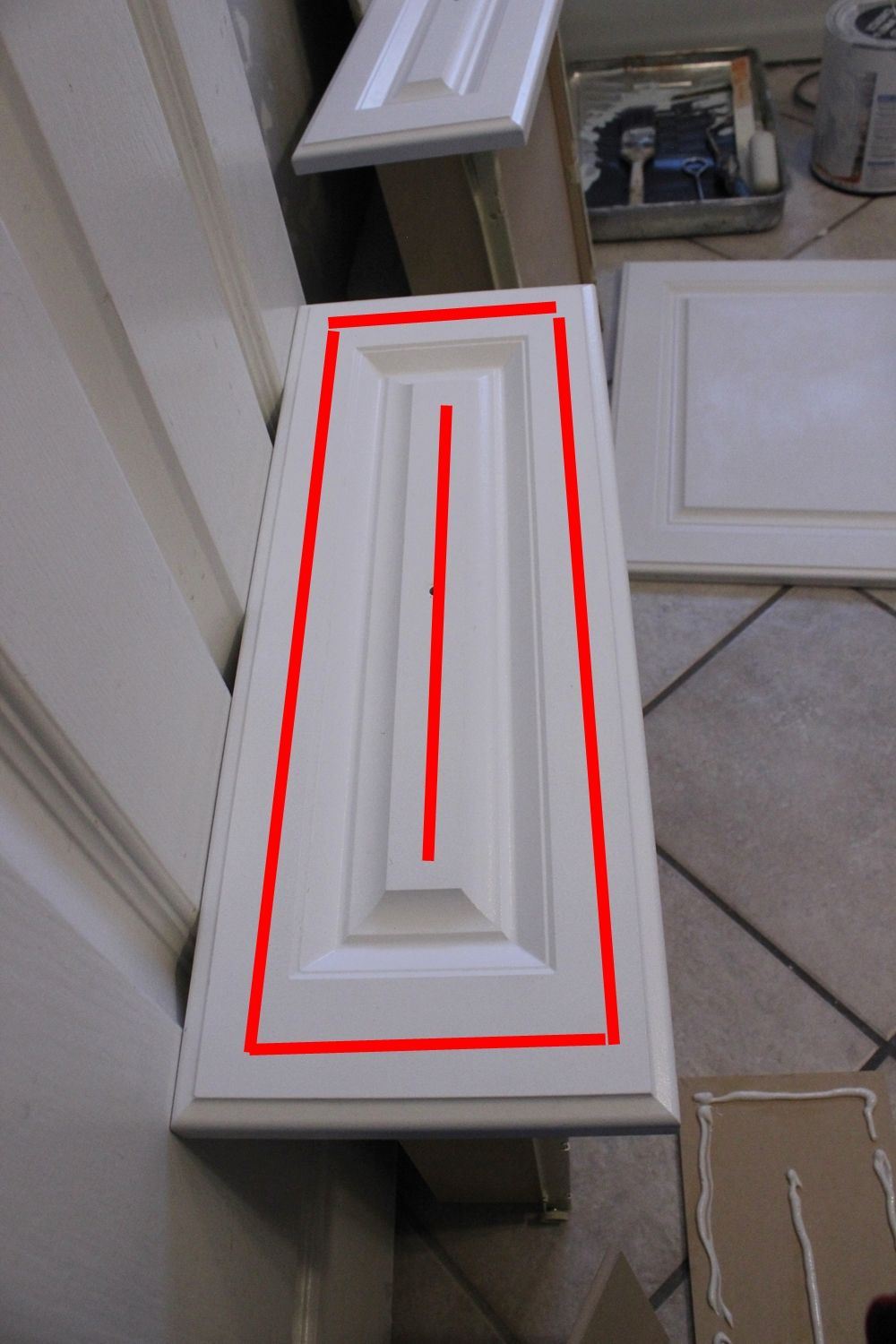 layout on your existing door