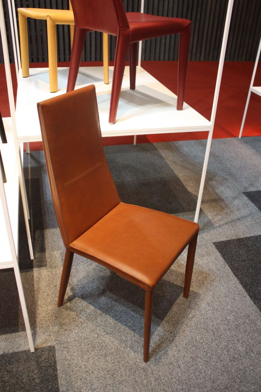 Another leather dining chair is this one from Airnova, called Lena 2, crafted from cowhide.