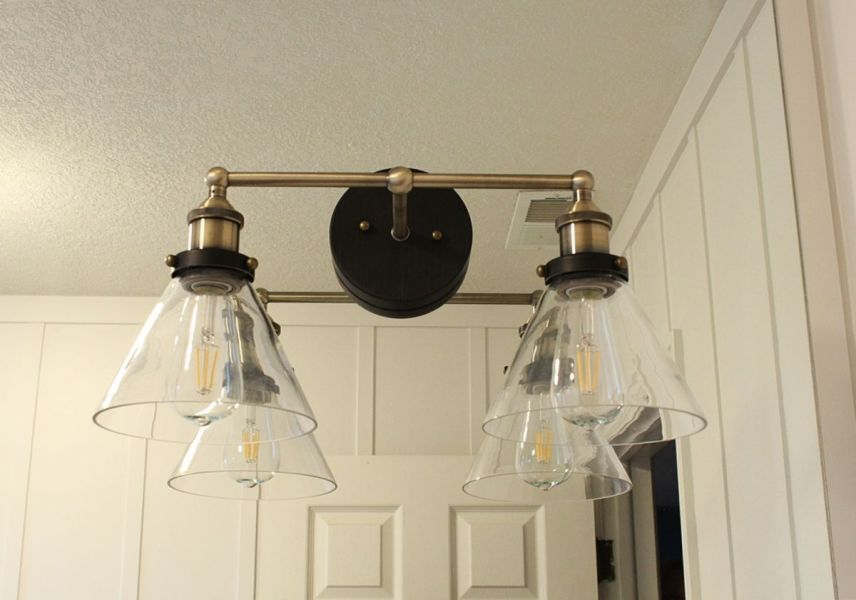 How to Mount a Light On Top of a Mirror Bathroom Vanity Brass lighting for mirror in bathroom