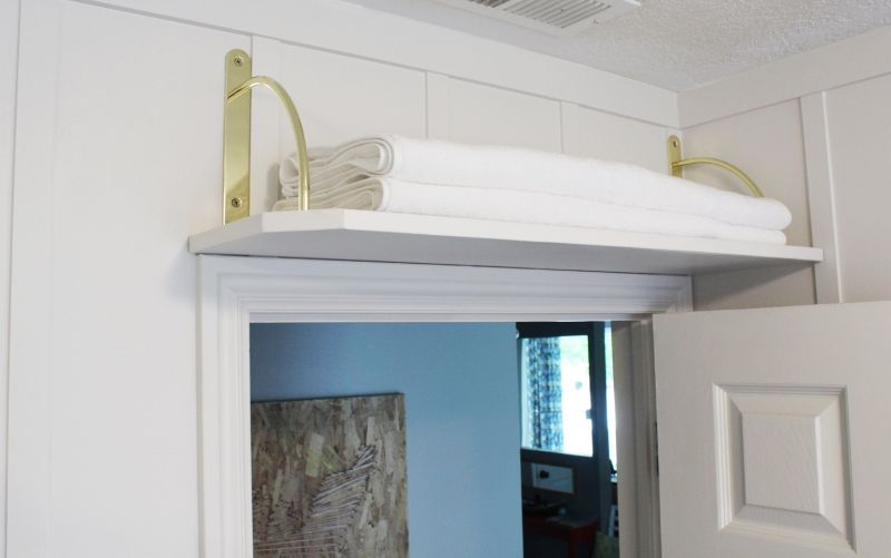 DIY Above Door Shelf Project
