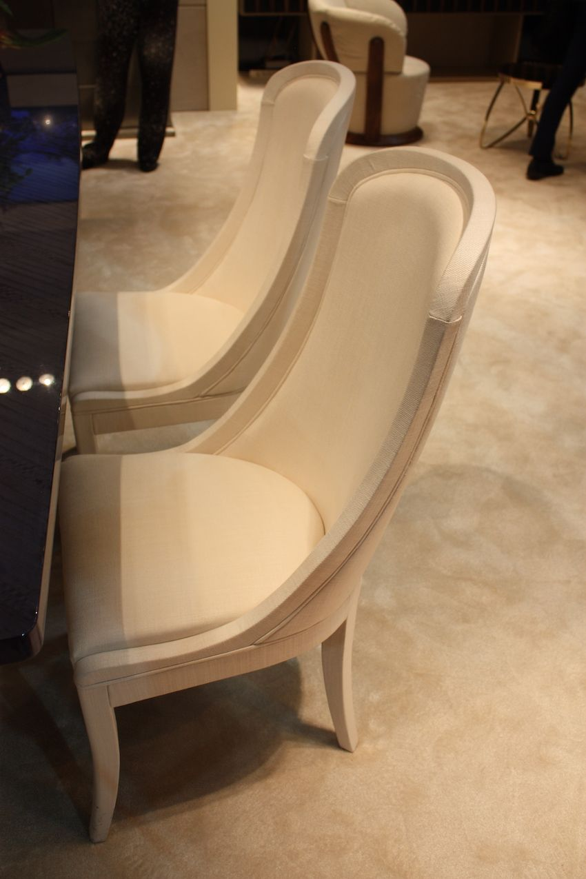 KLAB Furniture Design's elegant dining chairs are smooth, sinuous and formal. Perfect for a formal dining room, these chairs are as comfortable as they are are beautiful.