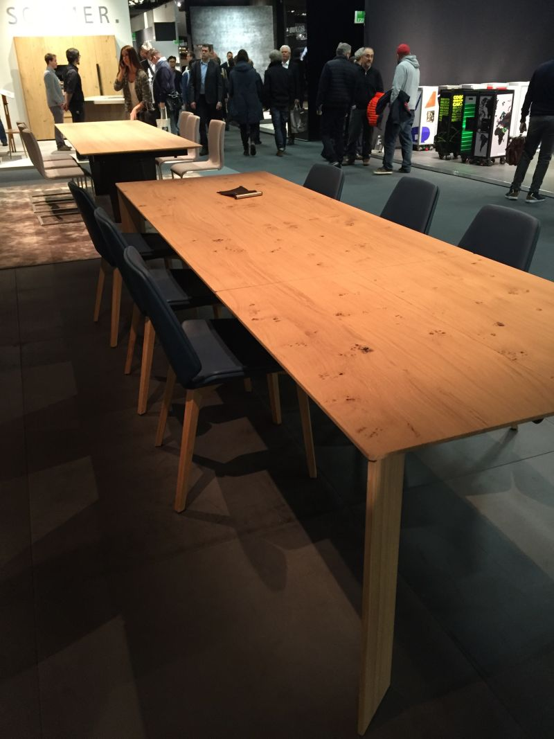 Large dining table used for meeting rooms