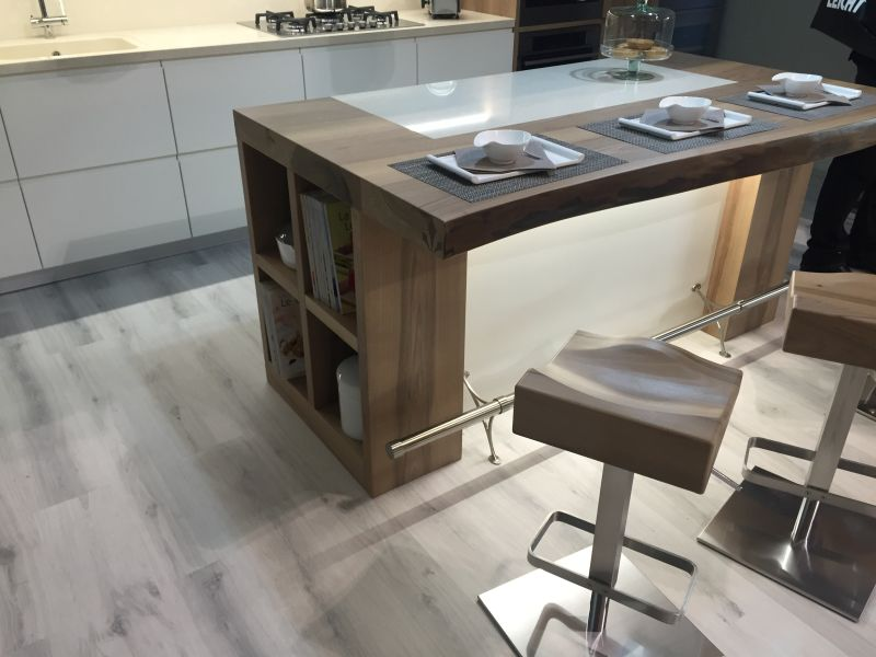 Live edge kitchen island and stools
