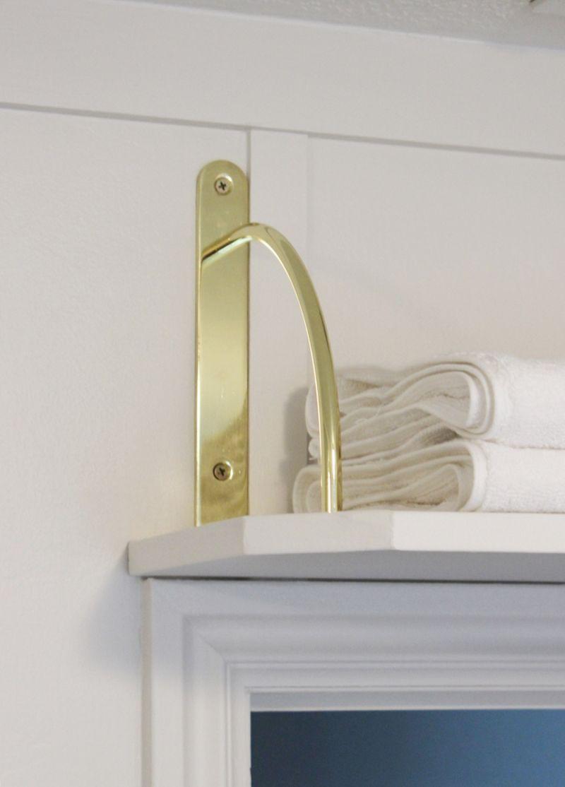 Towel storage above the door