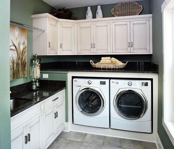 Weathered laundry room