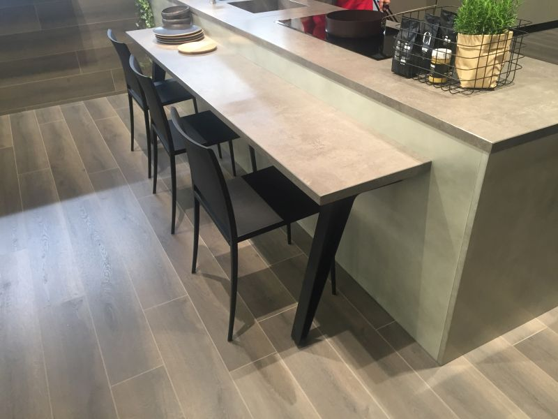 Wood top kitchen island bar