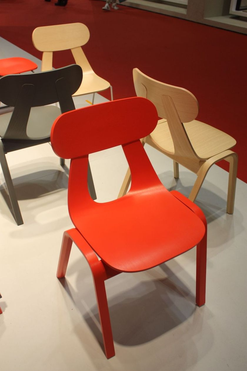 Zilio A & C debuted this dining chair design called Rapa, by Mentsen. The ash-faced plywood modern chair is a Scandinavian design that, depending upon your color choice, would work in a variety go dining room settings.