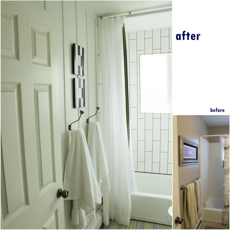 wood wall for bathroom makeover
