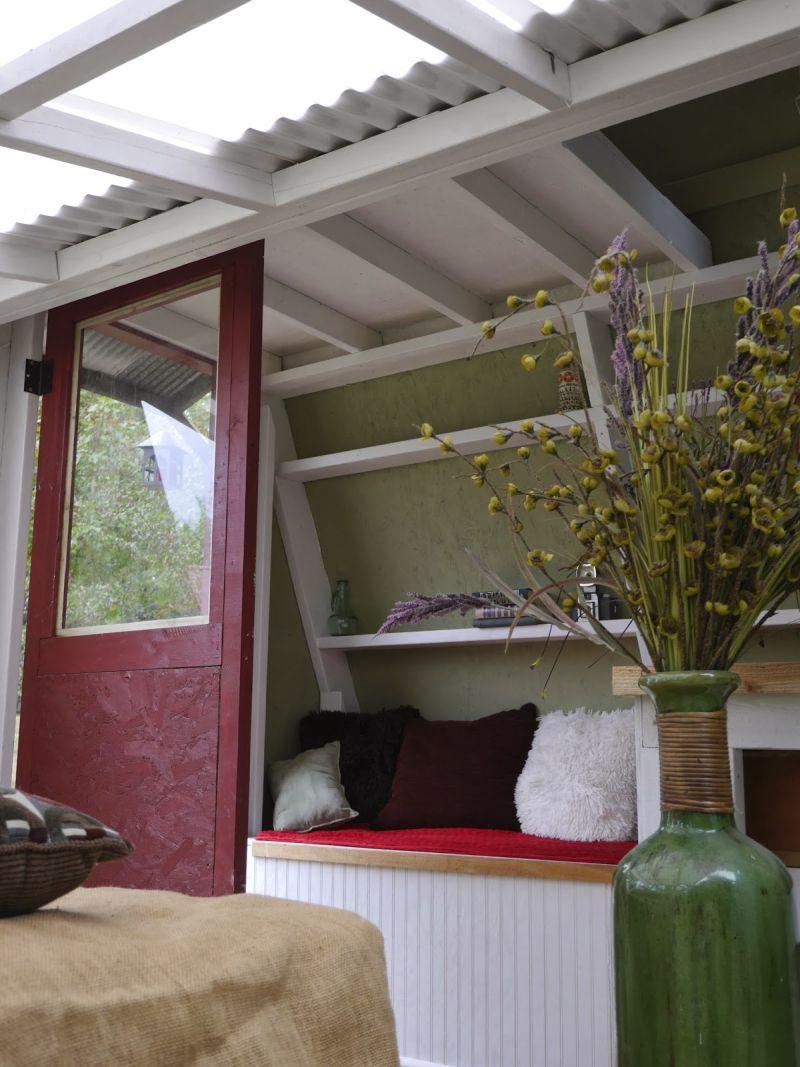 A frame small cabin door