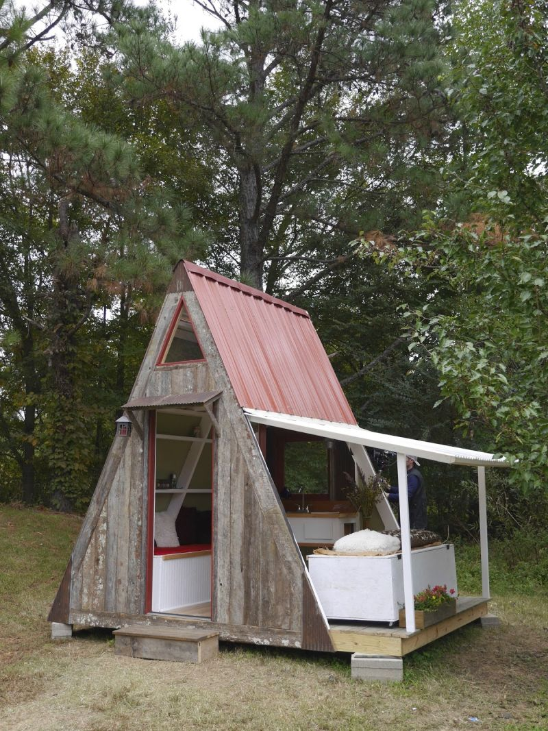 A frame small cabin