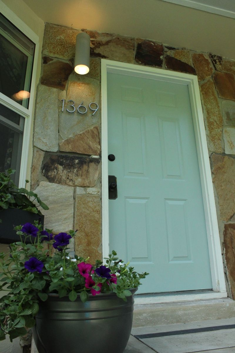 Beautiful front door painted