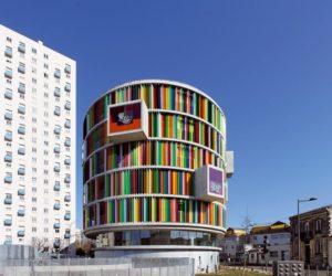 Colorful Arc en Ciel building designed by Barnard Buhler Architects
