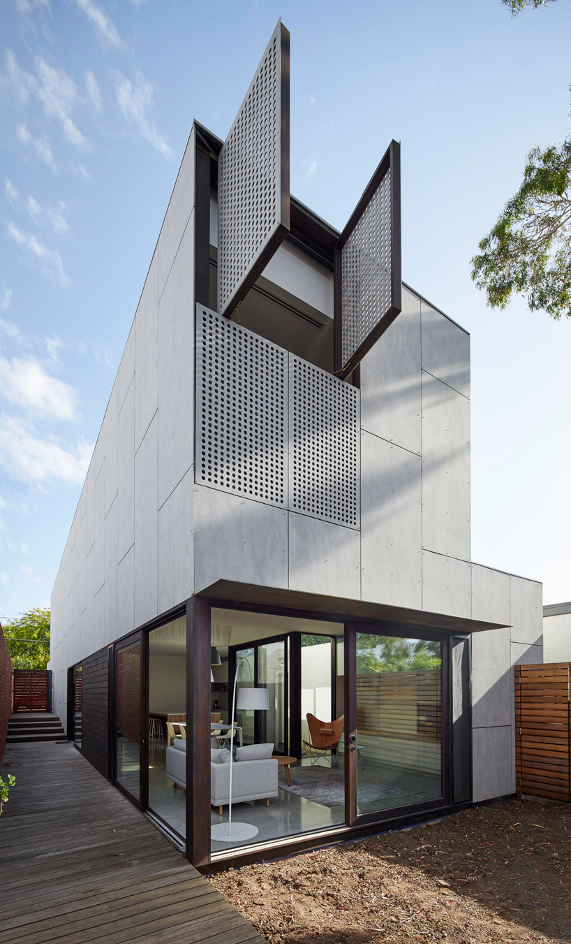 Concrete melbourne home perforated
