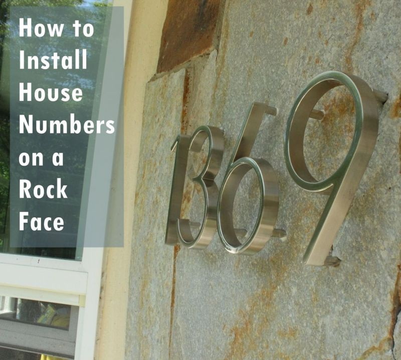 DIY Install House Numbers