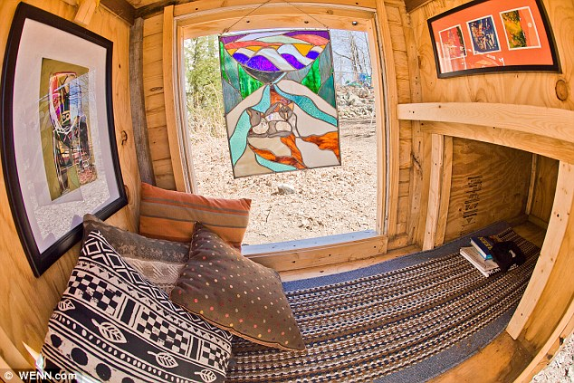 Eco-friendly micro houses made from household junk window
