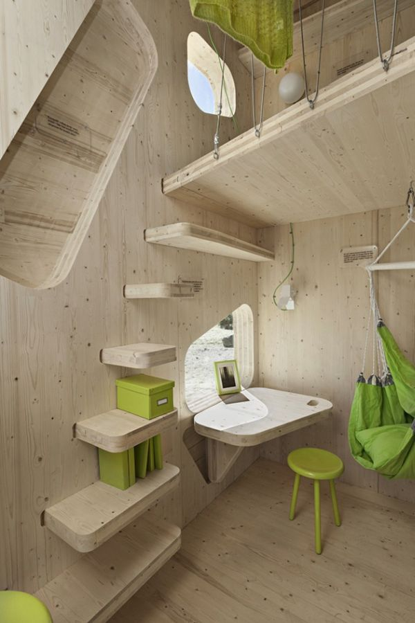 Eco friendly student unit wall stairs