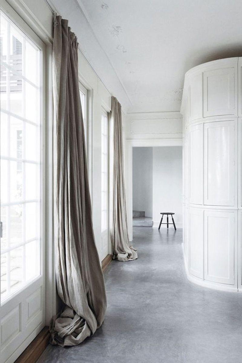 Rèm nghiêng sàn màu xám
