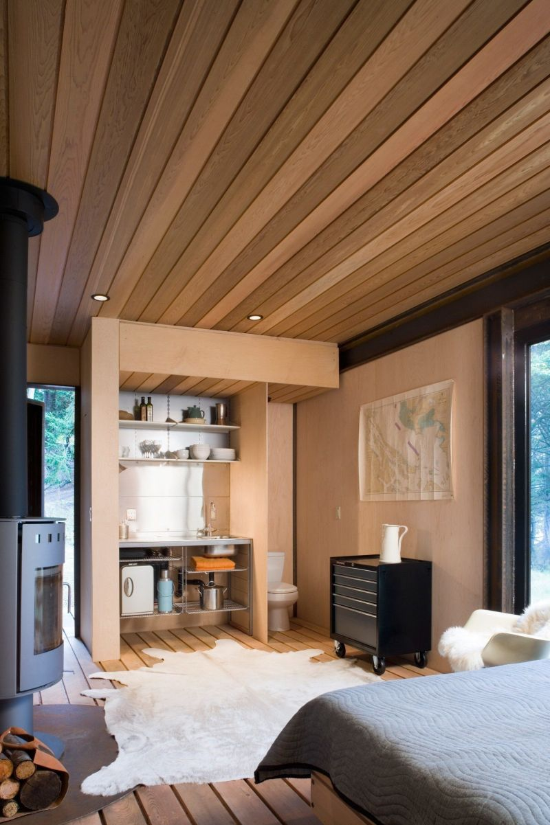 Gulf island cabin style interior