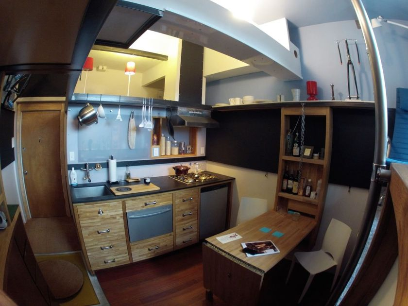 Tiny apartment in Seattle kitchen